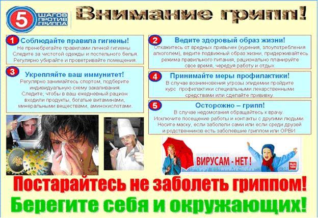 санбюллетень грипп картинки